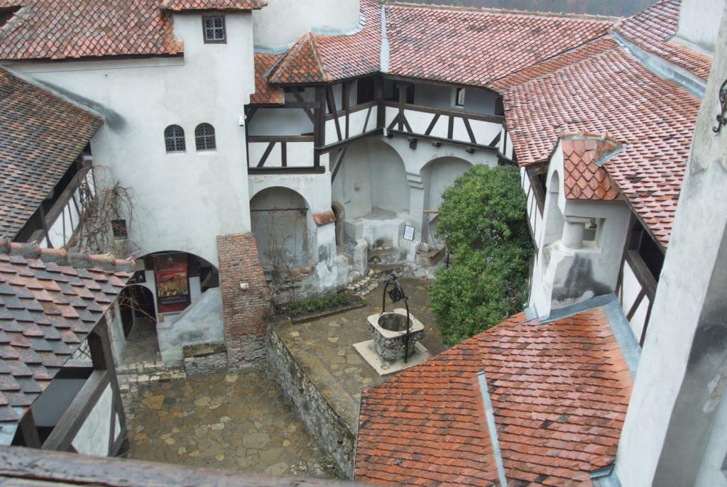 Bran castle, interior court